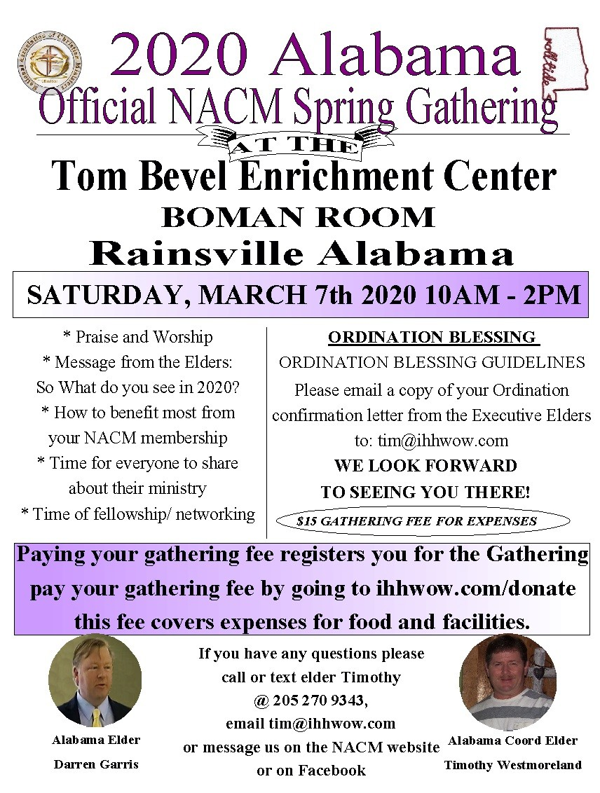 NACM 3.7.20 - 2020 Alabama Official Spring Gathering